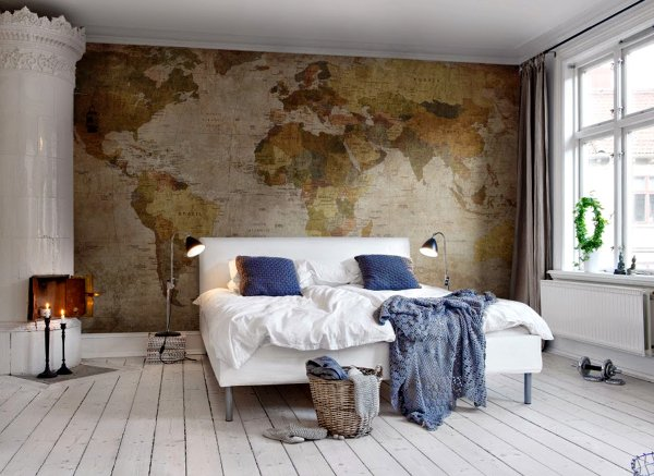 Foto papel pintado dormitorio matrimonio de ma jos - Dormitorio con papel pintado ...