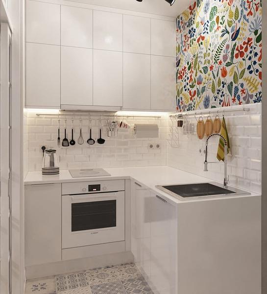 Foto papel pintado en la cocina de maribel mart nez 1733477 habitissimo - Papel pintado en cocina ...
