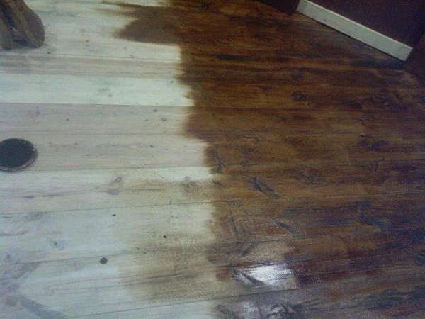 Foto parquet de madera maciza rustica de fusteria medina for Parquet madera maciza