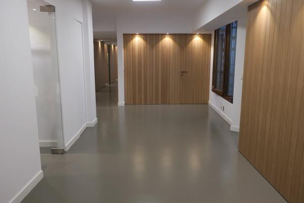 Foto pavimento continuo de resina epoxi poliuretano de - Suelos de resina epoxi ...