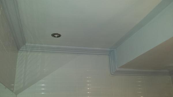 Foto pintura y escayola en techo de ba o de dormitorio de - Falsos techos para banos ...
