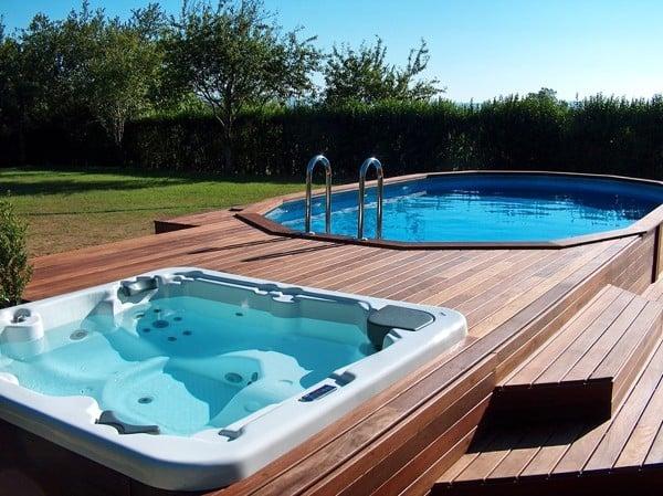 Foto piscina desmontable semienterrada de miriam mart for Precios piscinas desmontables