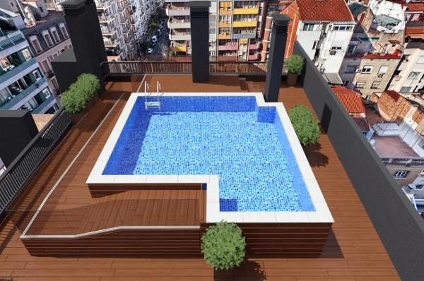 Foto piscina en planta cubierta de prj ingenieria sl for Piscinas en altura
