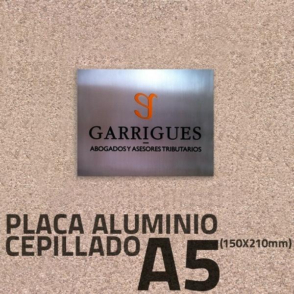 Foto placa aluminio grabado de rotulatumismo 332583 - Placa de aluminio ...