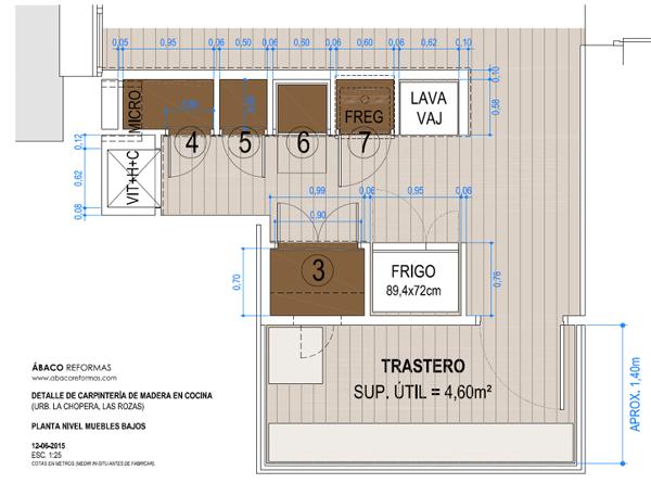 Foto plano de detalle de cocina encimera de obra 1 de - Abaco cocinas ...