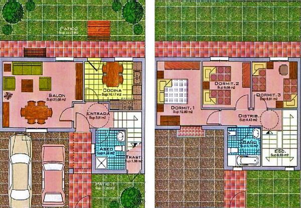 Foto planta de vivienda unifamiliar 3 dormitorios de - Planos de viviendas unifamiliares ...