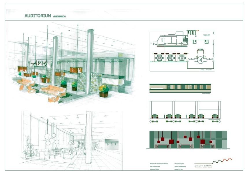 foto presentación proyecto reforma recepción hotel de mausha marsa