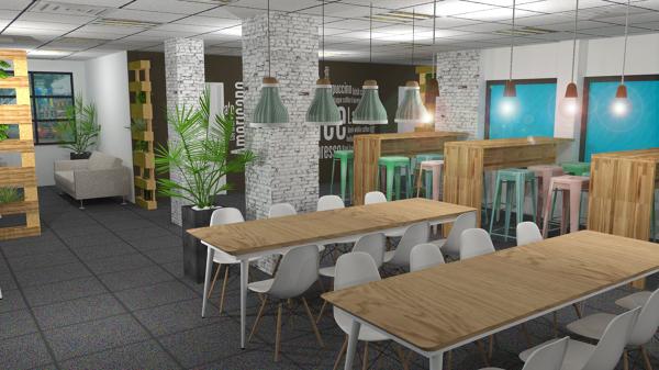 Foto proyecto comedor oficinas kimia de arte 4 for Comedor para oficina