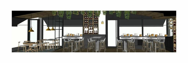 Foto proyecto de bar restaurante fromagerie en madrid de - Proyecto bar cafeteria ...
