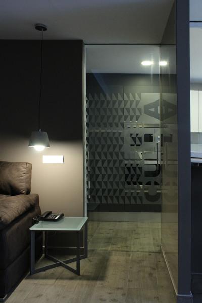Foto puerta cristal de sal n a cocina de promociones - Cristal puerta salon ...