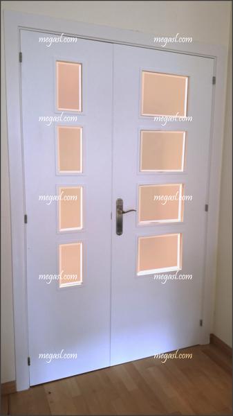 Foto puerta depues de lacar en blanco de mega s l - Lacar puertas en blanco ...