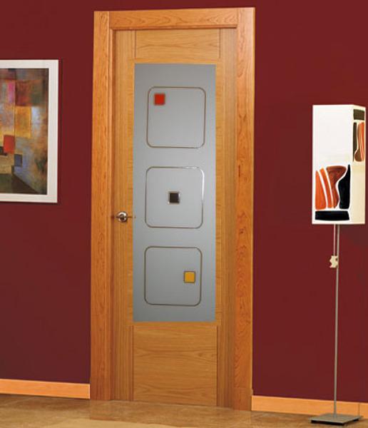Foto puertas con vidrio decoraci n de cristaleria yago for Puertas de madera con cristal precio