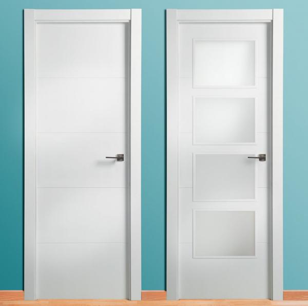 Puertas lacadas blancas proyectos parquetistas - Puertas blancas lacadas precios ...