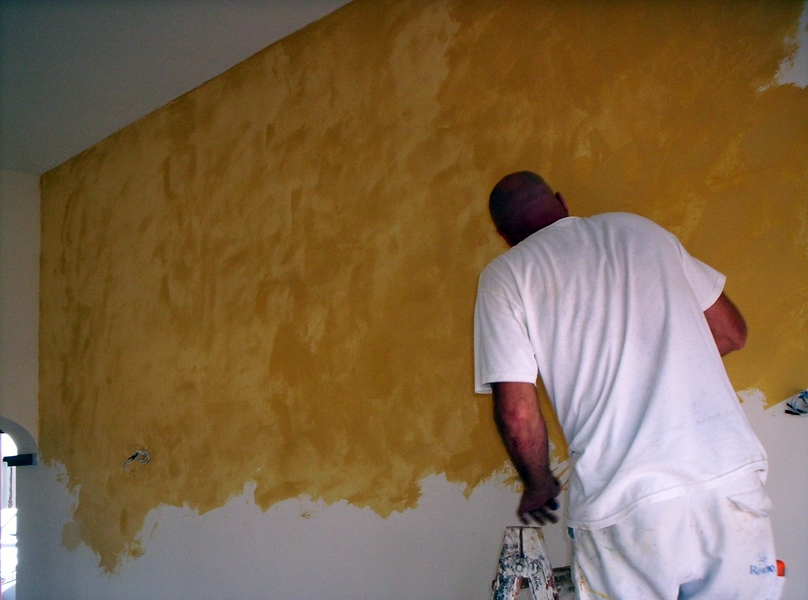 Foto realizaci n de estuco veneciano de el pintor for Estuco para banos