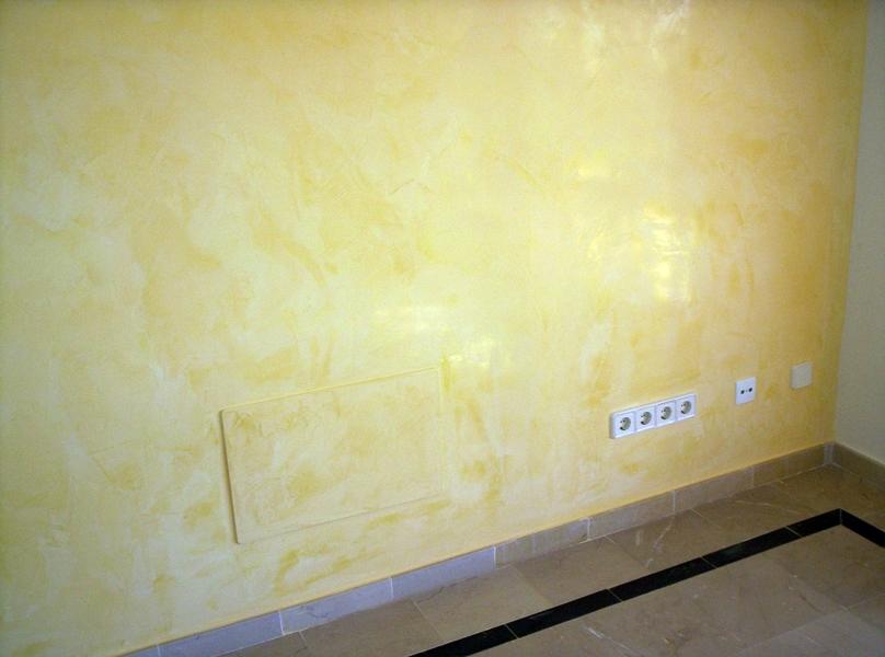 Foto realizaci n de estuco veneciano de el pintor - Estuco veneciano colores ...