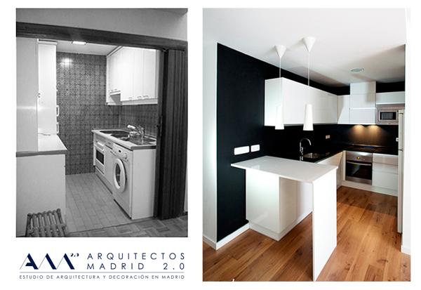 Foto reforma low cost de vivienda por arquitectos madrid for Muebles industriales madrid