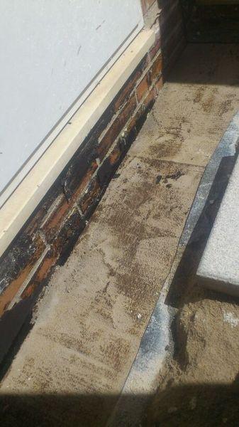 Foto retirada de la tela asf ltica afectada de teycu s l for Precio mano de obra colocacion tela asfaltica