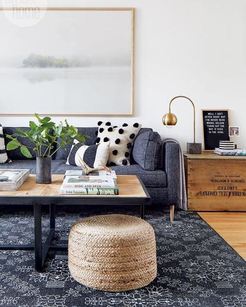 Foto sal n con sofa en color gris de marta 1581941 - Salon sofa gris ...