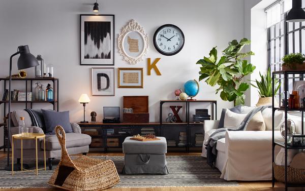 Foto Sal N De Estilo Industrial Con Sof Y Butaca De Ikea
