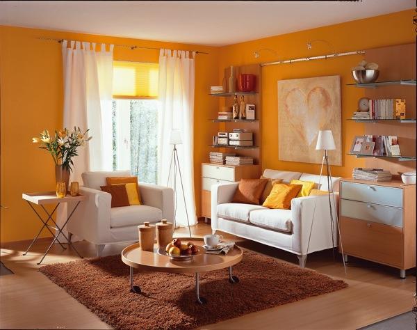 salón en naranjas