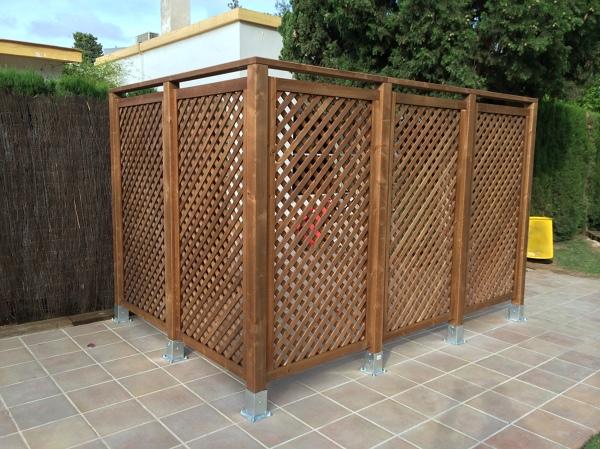 Foto separador ducha jardin de tilwork instalaciones s l for Separador jardin