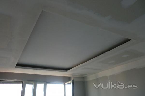Foto techo a varias altura con luz indirecta de yesos y - Luz indirecta escayola ...