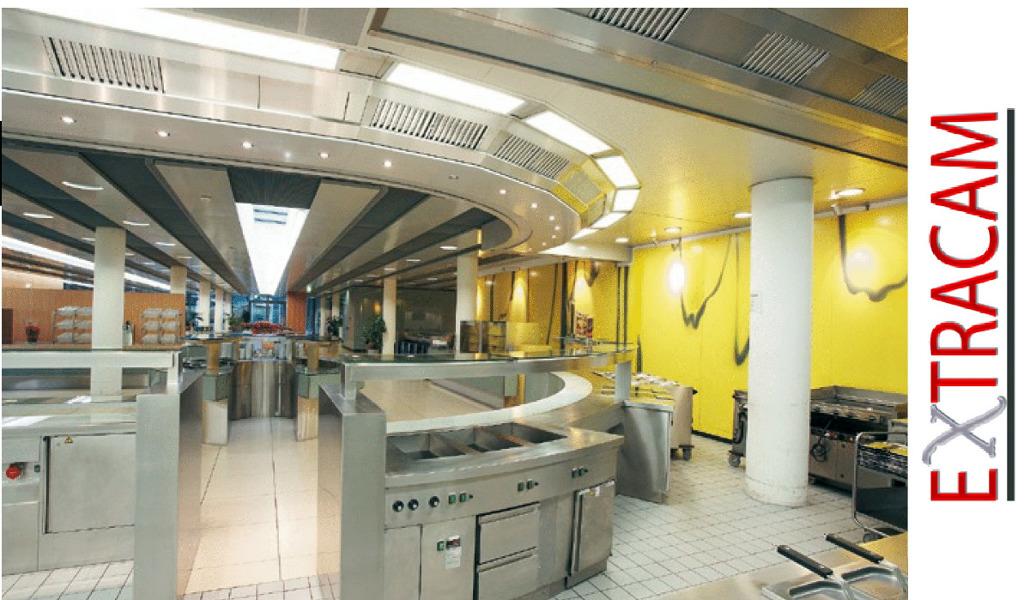 Foto techo filtrante en cocinas industriales extracam de for Ver cocinas industriales