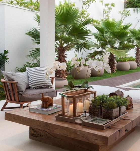 Foto terraza con muchas plantas de marta 1230094 for Planta tropical interior