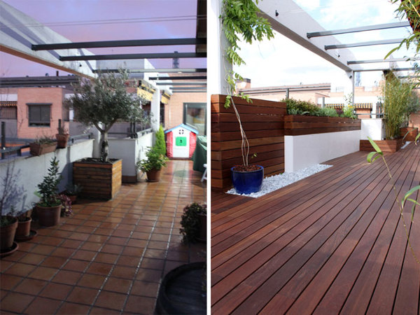 Foto Terraza Diseño Moderno De Blancoconstrucciones