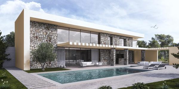 Foto vista fachada piscina de 4m arquitectos 683739 for Casas minimalistas precios