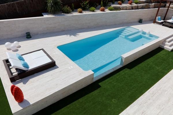 Foto vista general de la piscina des de la terraza de for Piscinas para terrazas