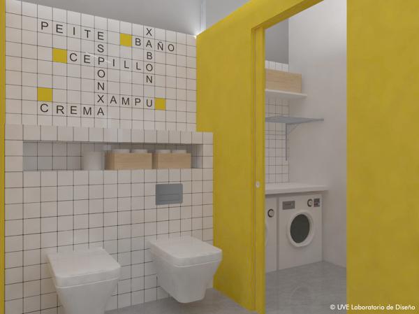 Foto zona inodoro y lavander a de uve laboratorio de - Zona lavanderia ...
