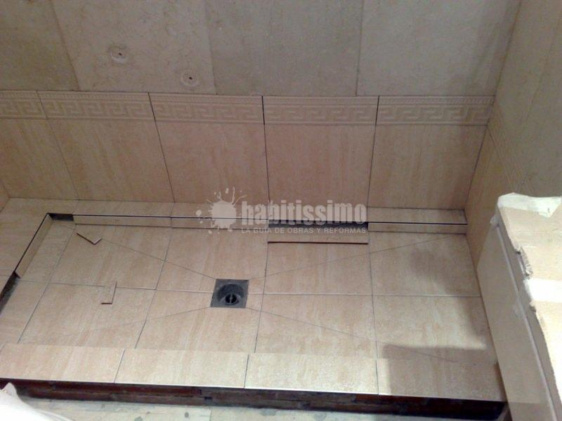 Cambio de ba era por plato de ducha de obra ideas alba iles - Fotos de duchas de obra ...