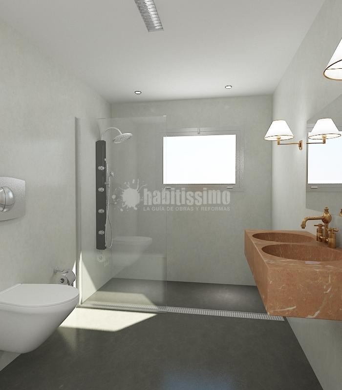 Baños Con Microcemento Fotos:Baño Realizado con Microcemento