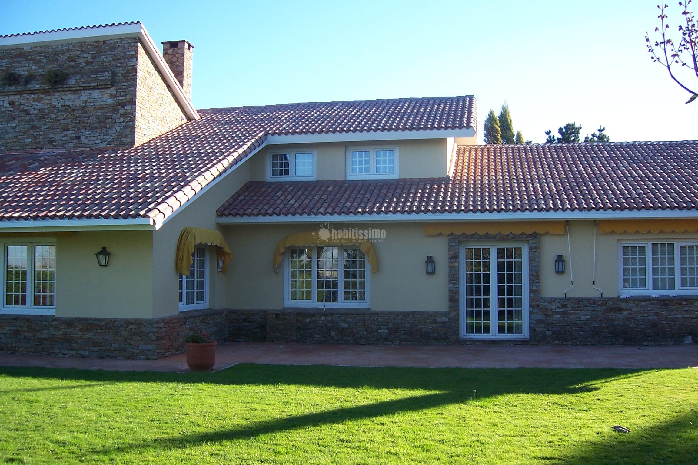 Tejado teja envejecida ideas reformas viviendas for Tipos de tejados de casas