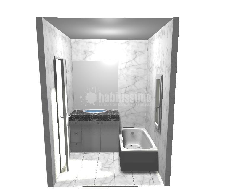 Baño Minusvalidos Puerta Corredera:Reforma de Baño Adaptado para Minusválidos