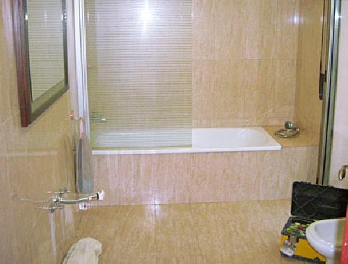 Cambio de ba era por plato de ducha ideas reformas cocinas - Como colocar un plato de ducha de resina ...