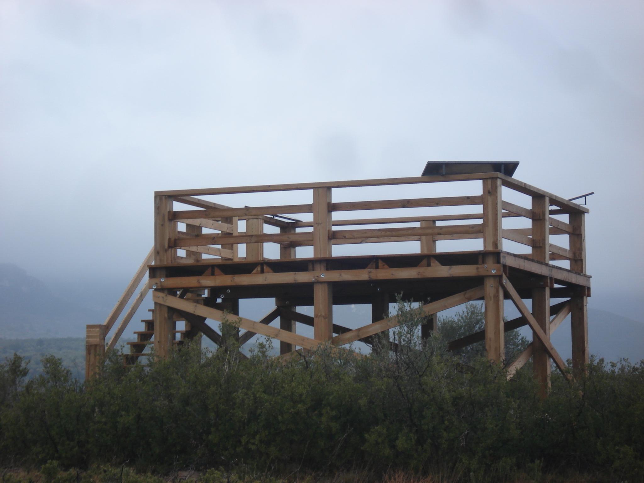 Construcci n de un mirador de madera en la s nia tarragona proyectos carpinteros - Carpintero tarragona ...