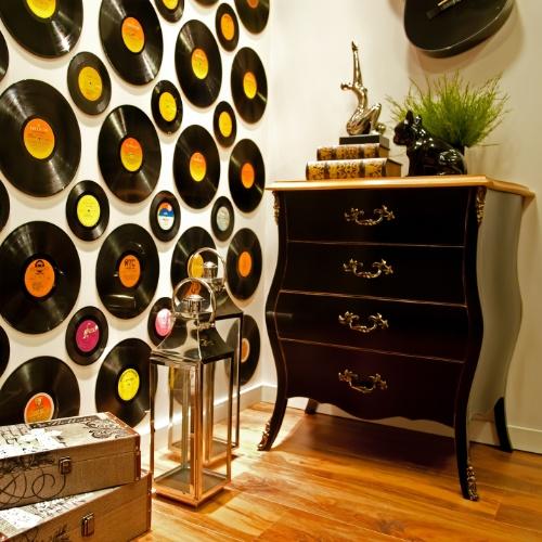 C mo decorar las paredes con discos vinilos ideas - Paredes con vinilos ...