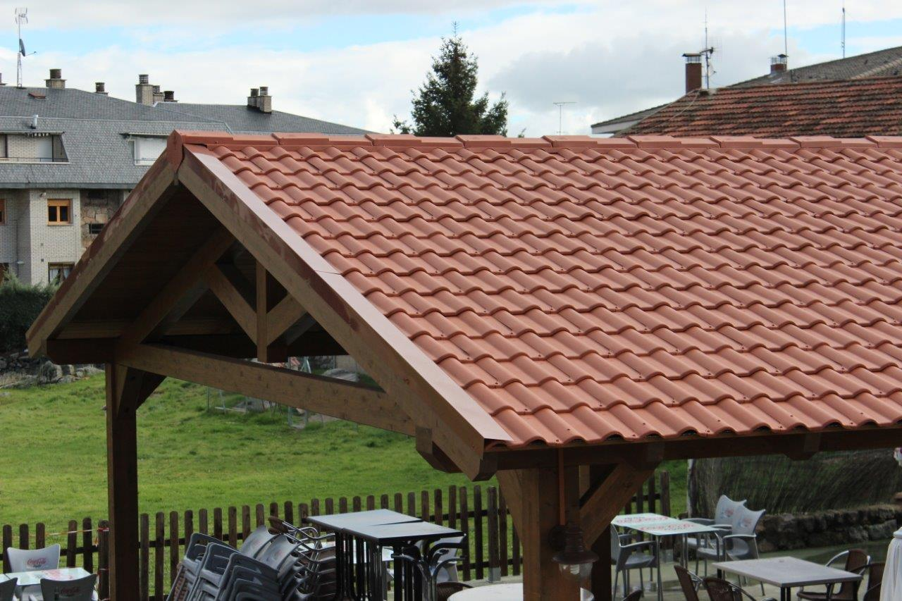 Cubierta bar jotas ideas tejados - Cubierta para terraza ...