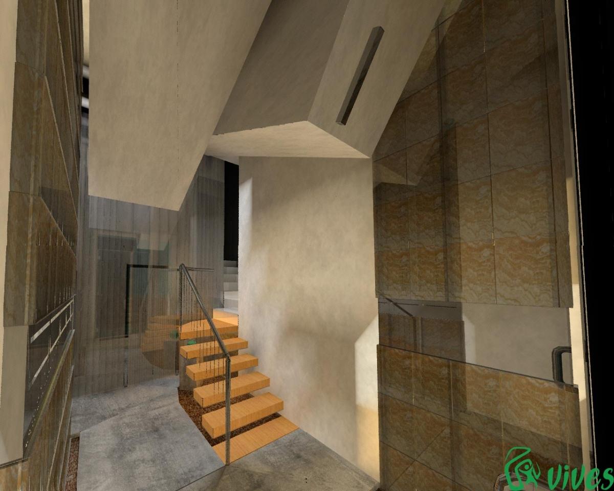 Reforma y decoraci n del interior del portal en zaragoza for Portal del interior