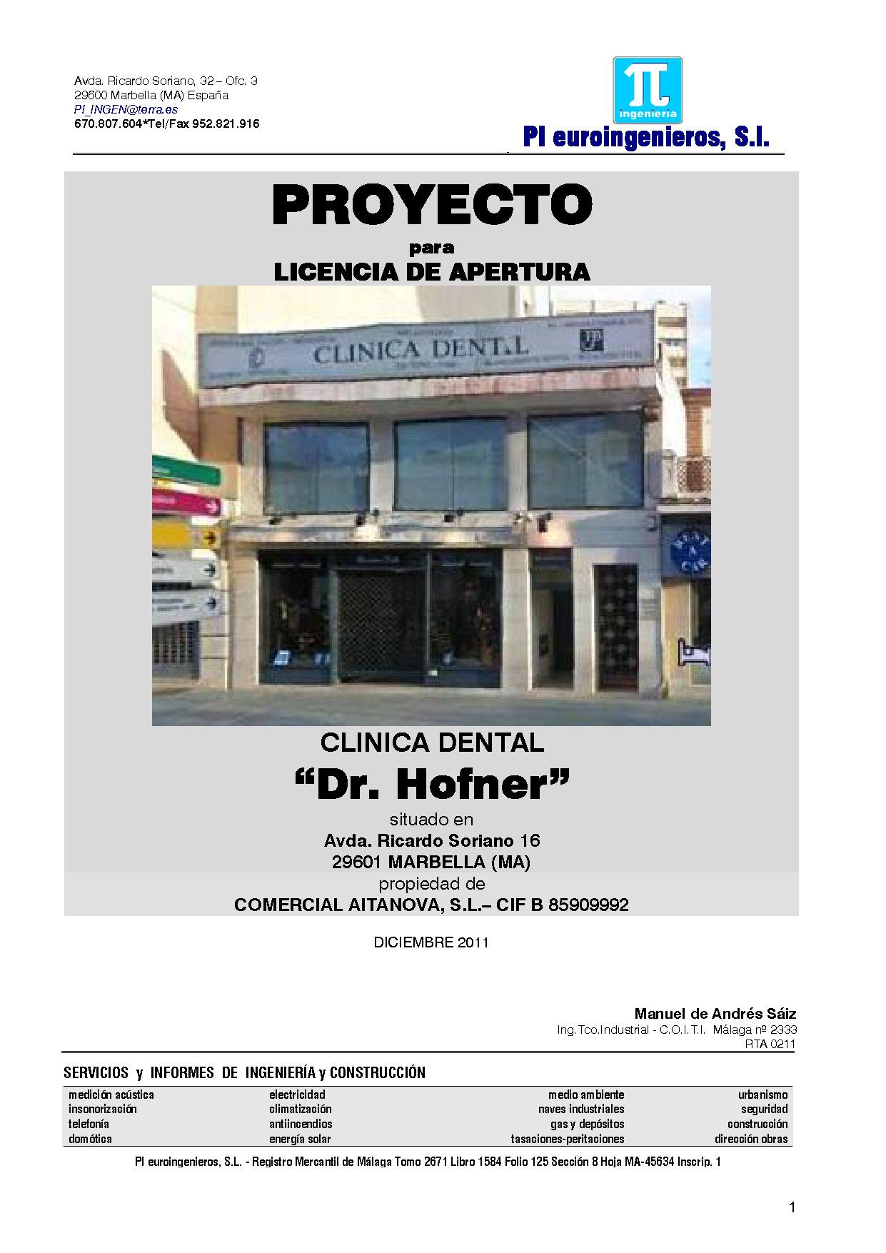 Cl nica dental proyectos licencias - Proyecto clinica dental ...