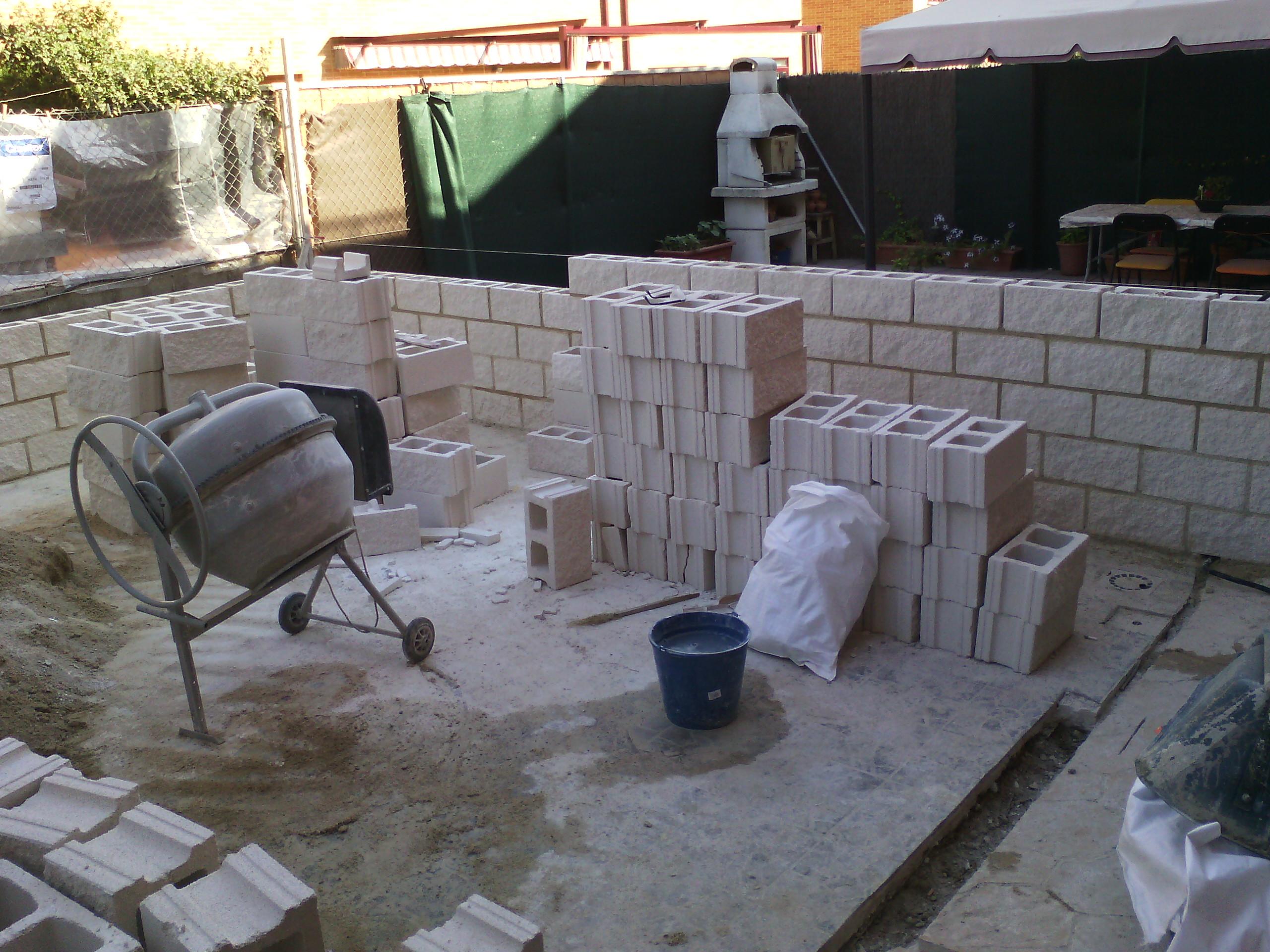 Muro de bloques foto de archivo bloques de cemento - Cemento blanco precio ...