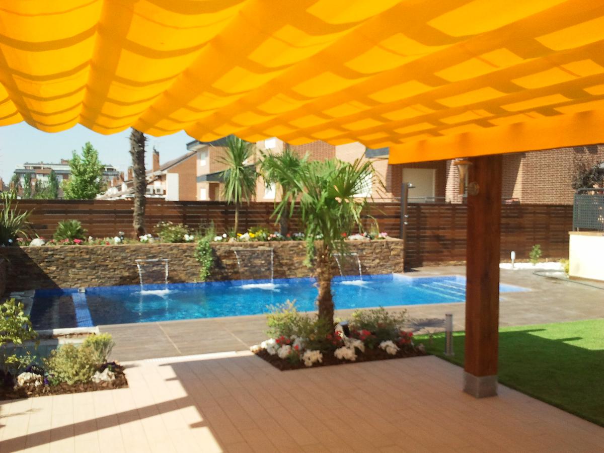 dise o jardin con piscina en rivas vaciamadrid ideas