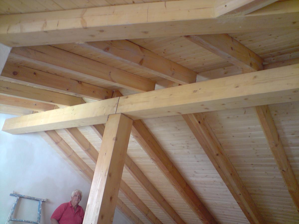 Estructura y cubierta de madera vista ideas tejados for Tejados de madera vista