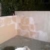 Forrado de piedra en terraza