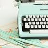 máquina escribir turquesa