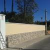 Alisar pared con cemento cola y pintar pintura petrea  tipo fachadas exterior