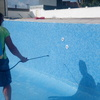 aplicación del tratamiento anti algas