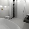 Armario toallas+ murete retroiluminado